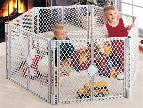 6 panel baby pen states superyard play yard grey 6 panel baby