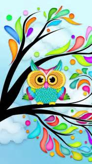 colorful owls colorful owl wallpaper clipart best