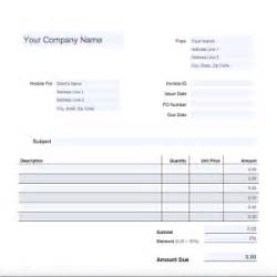 Invoice Template Mac by Blank Invoice For Mac Blankinvoice Org