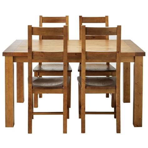 Argos Dining Room Furniture by Buy Collection Arizona Dining Table And 4 Chairs Solid