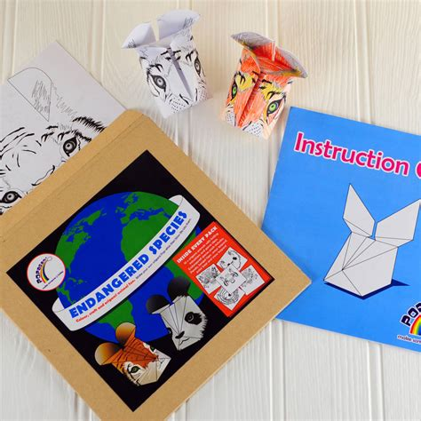 Origami Kits For Adults - endangered species origami craft kit by popagami