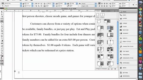 creating indesign master page cs5 indesign create page numbers using master pages youtube