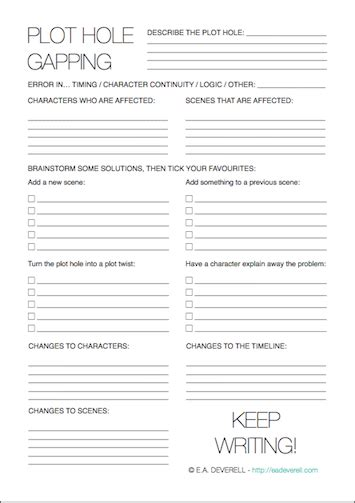 Holes Worksheets by Plot Writing Worksheet Wednesday