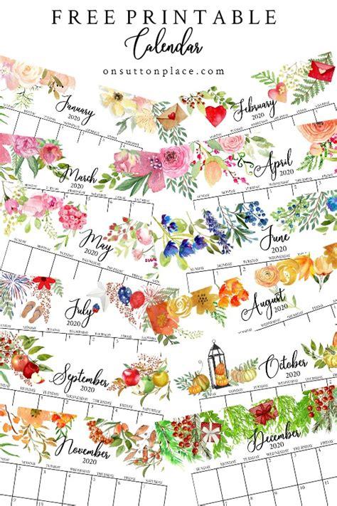 printable  calendars  suburban mom