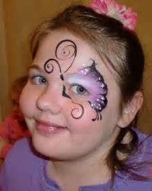 Art llc face paint butterfly eye design purple face painting