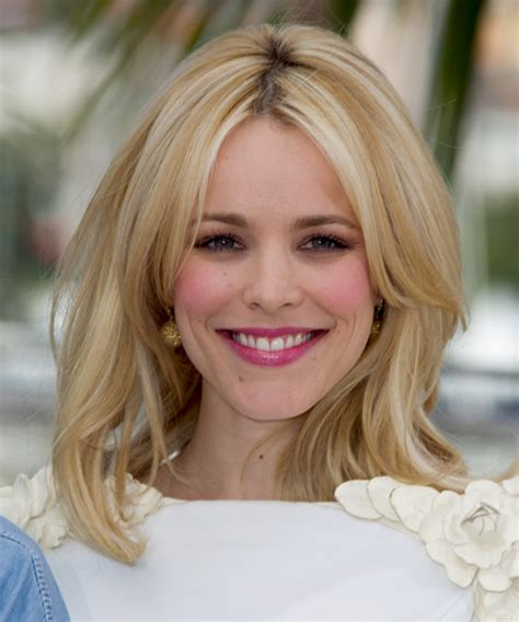 rachel thinning hair rachel mcadams long straight formal hairstyle light blonde