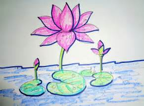 Lotus Flower Drawing Step By Step How To Draw Lotus Step By Step Easy Drawing