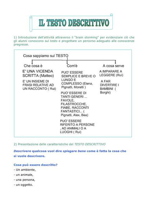testo descrittivo di una persona scuola primaria calam 233 o testo descrittivo classe 3