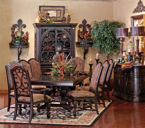 tuscan dining room tables love the wall decor buffet hutch home decor