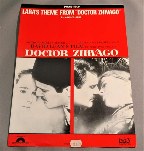 theme song dr zhivago lara s theme from quot doctor zhivago quot sheet music omar sharif