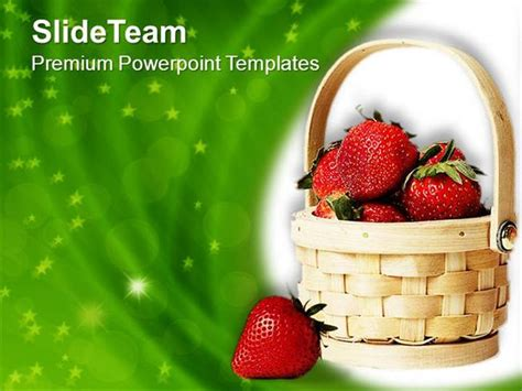 healthy fruits for good nutrition powerpoint templates ppt
