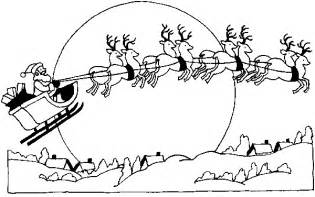 santa claus sleigh coloring pages free santa on his sleigh coloring pages