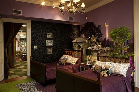 Mardi Gras Themed Bedroom by Skull Wallpaper And Carpet On The Real World New Orleans