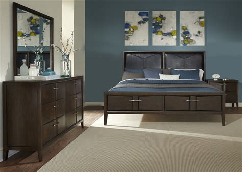 java bedroom set arterra 6 piece bedroom set in java finish by liberty