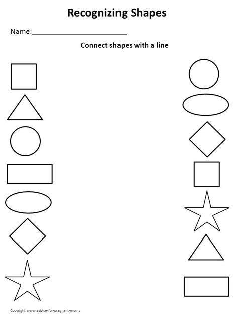 worksheets for preschool 5 best images of printable shape activities for