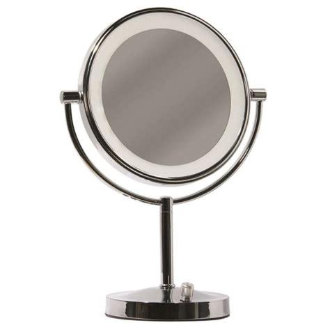 countertop vanity mirror with lights shop giagni vernon chrome zinc magnifying countertop