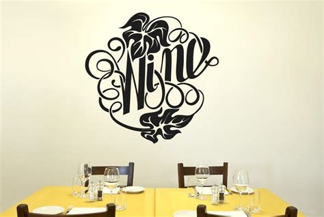 wall sticker writing writing in form of the word wine cut it out wall stickers