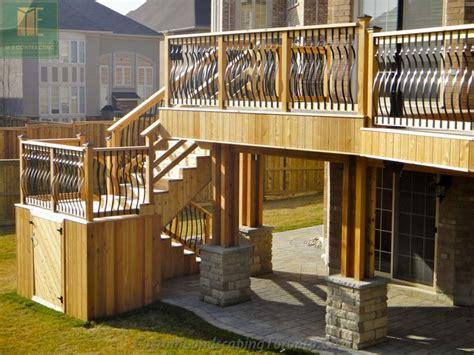 deck with walkout basement designs cedar deck with walkout basement and pergola traditional