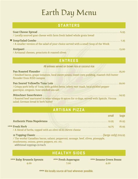 day menu template menu templates from imenupro more than just