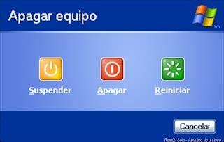 escritorio xp bh windows xp no se apaga la solucion hazlo tu mismo