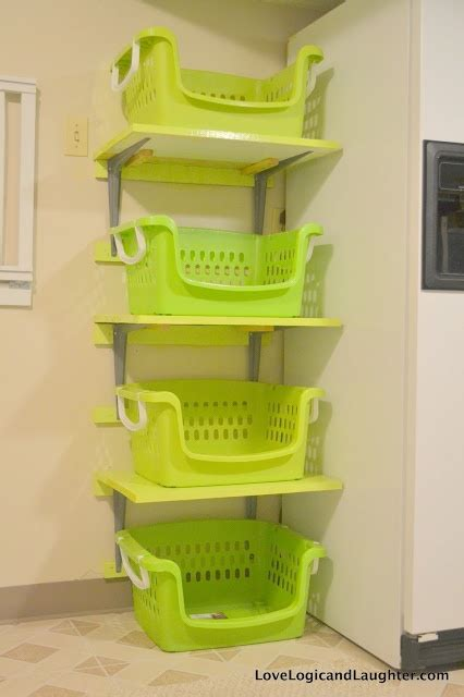 25 best ideas about laundry basket shelves on