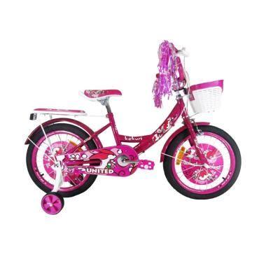 Kaos Anak Sepeda Pink jual united kokuri sepeda anak pink 18 inch harga kualitas terjamin blibli