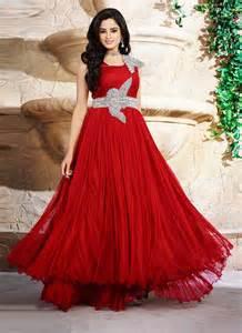net red fancy designer gown