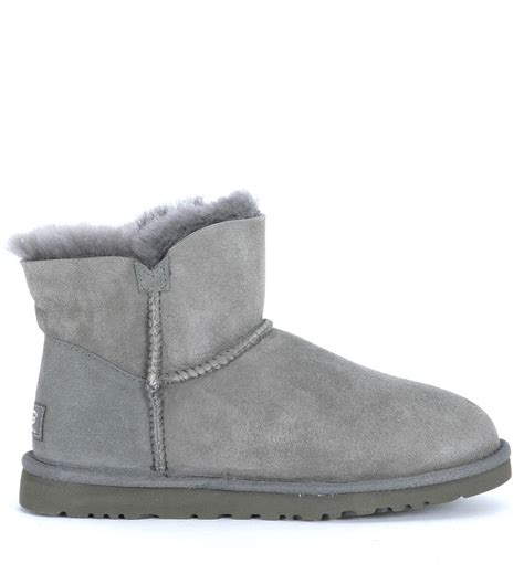 grey ugg boots for ugg b button grey in gray grey lyst