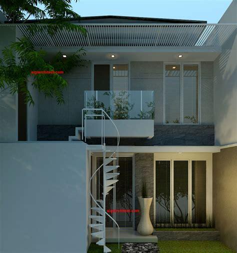denah rumah minimalis model rumah  lantai