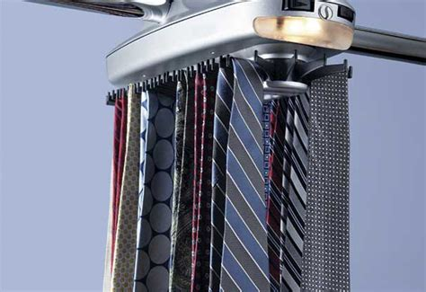 Electronic Closet Tie Rack by Motorized Tie Rack Sharper Image
