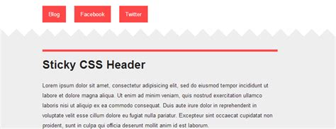 css layout header menu content footer sticky header or footer divs using simple css html tuts com