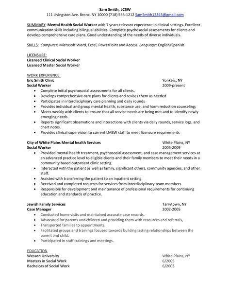 Clinical Support Worker Sle Resume sle worker resume commonpenceco format template