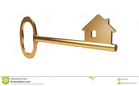 golden home gold house key royalty free stock image image 33814116