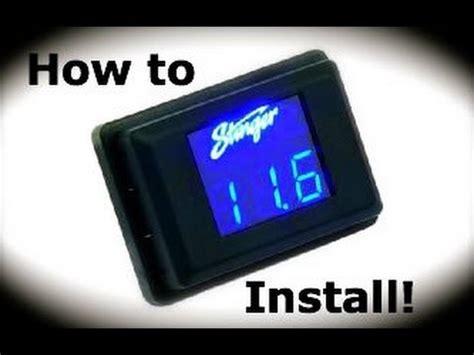 how to m stinger volt meter install youtube