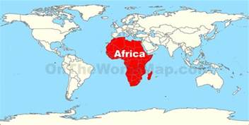 Africa World Map by Africa Location On The World Map