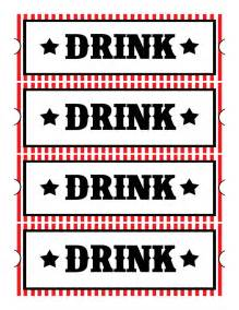 complimentary drink ticket template sweet designs free printables home theatre