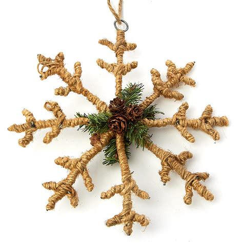 rustic jute snowflake ornament christmas ornaments