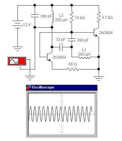 npn transistor oscillator electronic oscillator circuit schematic