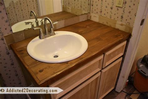 Diy Wood Bathroom Countertop by Diy Wood Countertop Bathroom Ideas