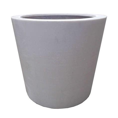 white planter pots 50cm white polystone poly pot garden planter plant