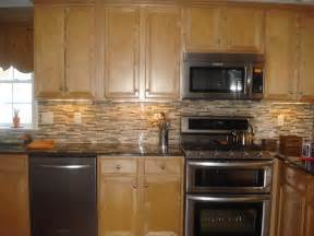 honey oak cabinets backsplash kitchen idea ideas