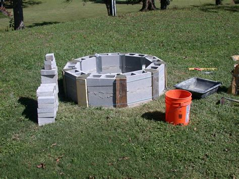 firepit blocks cinder block pit inexpensive and attractive ideas