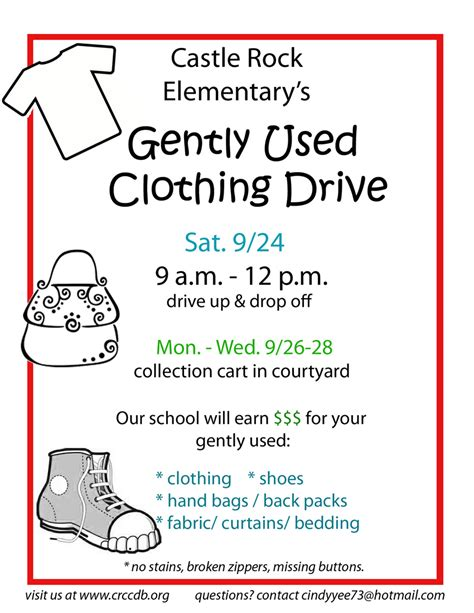 castle rock community club gently used clothing drive