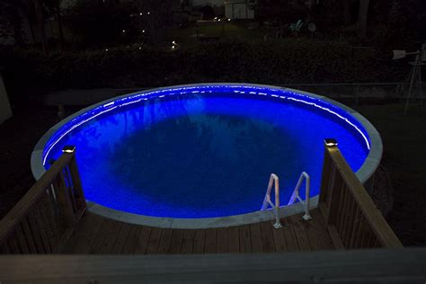 underwater led strip lights for pools swimming pool rgb led strips pool party pinterest