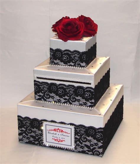 Wedding Box Singapore by White Wedding Card Box Black Lace Design Roses Rhinestone