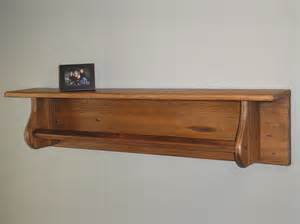reclaimed wood shelf with towel bar tc115 3