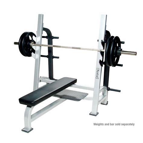 olympic bench with weights york commerical olympic flat weight bench