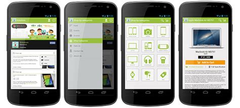 phonegap templates for android free android app ecommerce template on behance