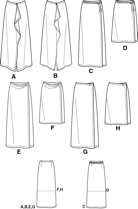 pattern review template simplicity 7015 one piece wrap skirt