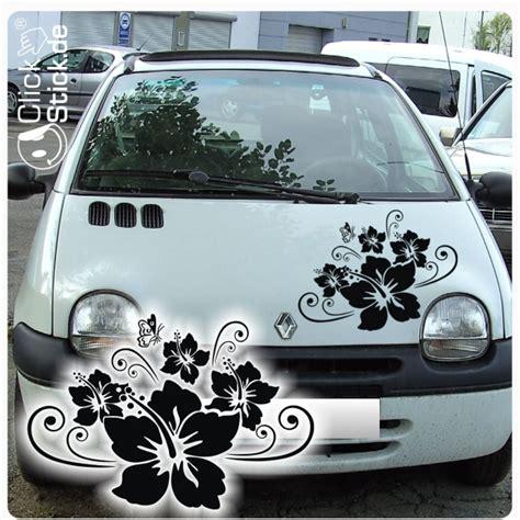 Aufkleber Auto Ch by A867 Hibiskus Schmetterling Autoaufkleber Auto Aufkleber